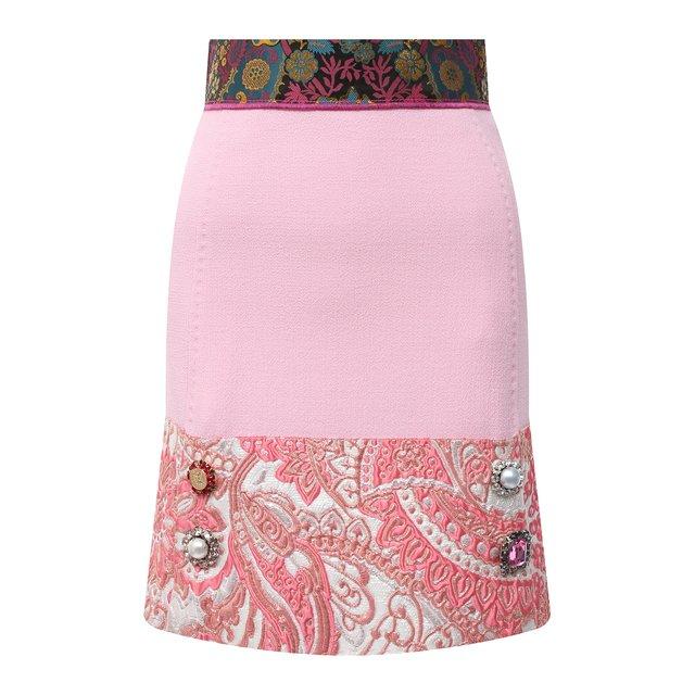 Юбка из шерсти и шелка Dolce & Gabbana