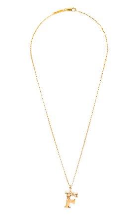 Женская подвеска на цепочке alphabet f CHLOÉ золотого цвета, арт. CHC20SF02FCB7 | Фото 1 (Материал: Металл)