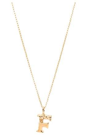 Женская подвеска на цепочке alphabet f CHLOÉ золотого цвета, арт. CHC20SF02FCB7 | Фото 2 (Материал: Металл)