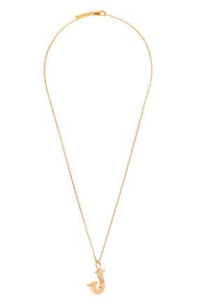 Женская подвеска на цепочке alphabet j CHLOÉ золотого цвета, арт. CHC20SF02JCB7 | Фото 1 (Материал: Металл)