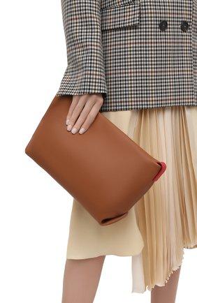 Женский клатч inside out LORO PIANA коричневого цвета, арт. FAI7899 | Фото 2