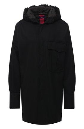 Женская шерстяная куртка Y`S черного цвета, арт. YR-Y41-131 | Фото 1