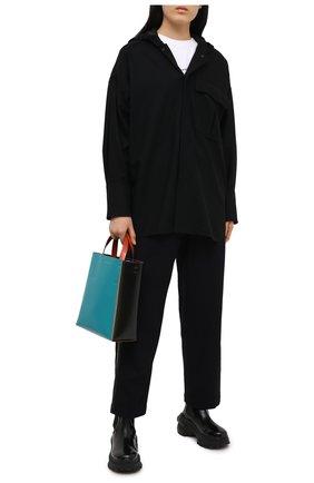 Женская шерстяная куртка Y`S черного цвета, арт. YR-Y41-131 | Фото 2