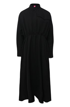 Женское шерстяное платье Y`S черного цвета, арт. YR-D45-133   Фото 1