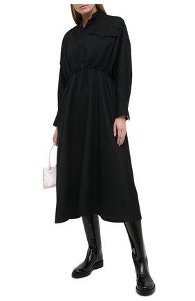 Женское шерстяное платье Y`S черного цвета, арт. YR-D45-133   Фото 2