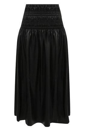 Женская юбка SELF-PORTRAIT черного цвета, арт. AW20-010 | Фото 1