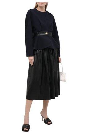 Женская юбка SELF-PORTRAIT черного цвета, арт. AW20-010 | Фото 2
