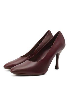 Женские кожаные туфли TOD'S бордового цвета, арт. XXW04D0DV30G0C | Фото 1