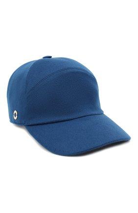 Женская кашемировая бейсболка LORO PIANA синего цвета, арт. FAF4494 | Фото 1