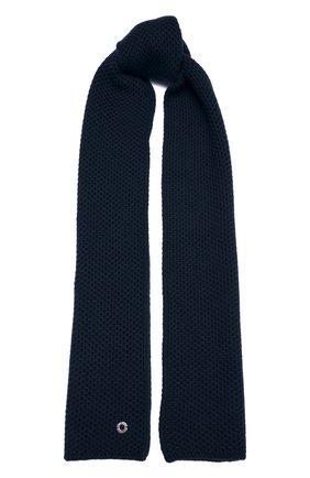 Мужские кашемировый шарф rougemont LORO PIANA синего цвета, арт. FAE1299 | Фото 1