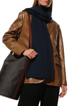 Мужские кашемировый шарф rougemont LORO PIANA синего цвета, арт. FAE1299 | Фото 2
