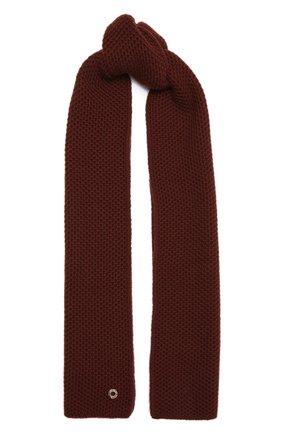 Мужские кашемировый шарф rougemont LORO PIANA бордового цвета, арт. FAE1299 | Фото 1