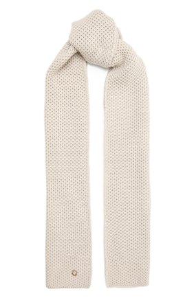 Мужские кашемировый шарф rougemont LORO PIANA светло-серого цвета, арт. FAE1299 | Фото 1