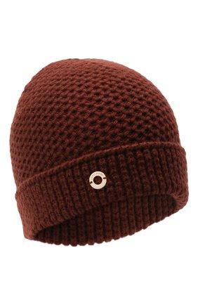 Женский кашемировая шапка rougemont LORO PIANA бордового цвета, арт. FAE1298 | Фото 1