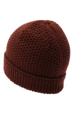Женский кашемировая шапка rougemont LORO PIANA бордового цвета, арт. FAE1298 | Фото 2