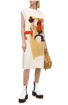 Женское шерстяное платье KENZO разноцветного цвета, арт. FA62WR0663RL | Фото 2