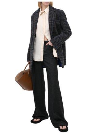 Женские шерстяные брюки THEORY серого цвета, арт. K0801209 | Фото 2