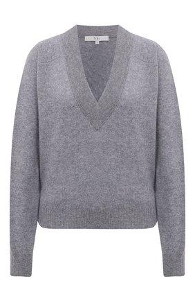 Женский кашемировый пуловер TIBI светло-серого цвета, арт. F120SR6331 | Фото 1 (Длина (для топов): Стандартные; Материал внешний: Шерсть, Кашемир; Рукава: Длинные; Женское Кросс-КТ: Пуловер-одежда; Стили: Кэжуэл)