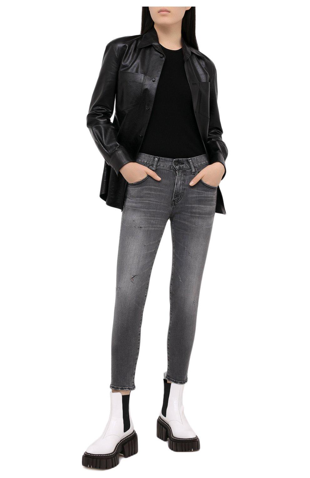 Женские джинсы MOUSSY серого цвета, арт. 025DAC12-1230 | Фото 2