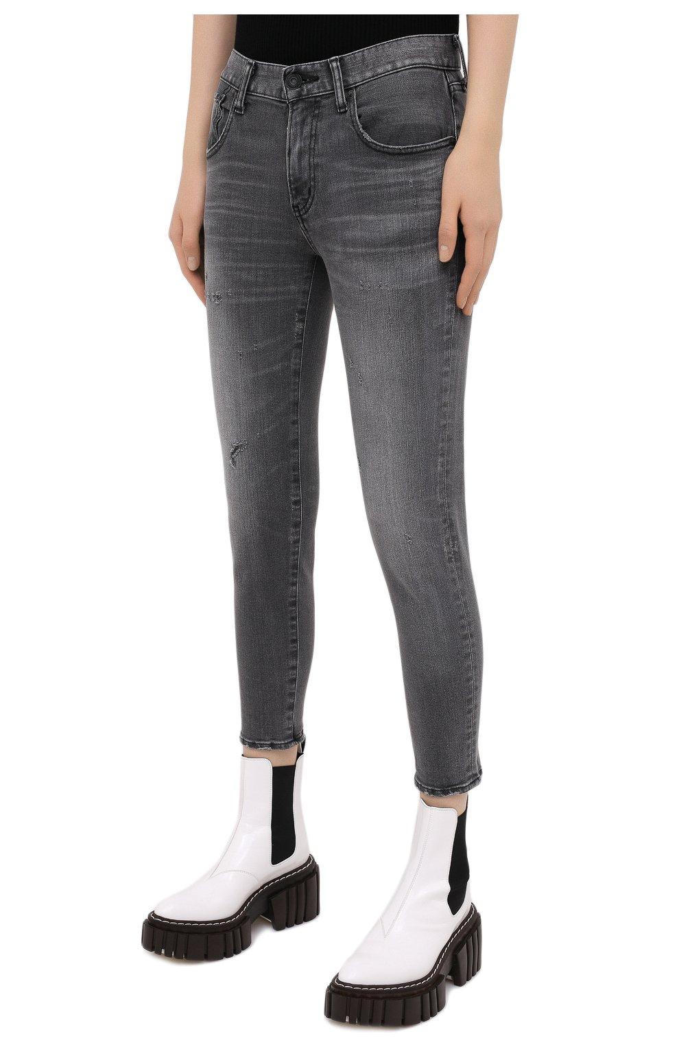 Женские джинсы MOUSSY серого цвета, арт. 025DAC12-1230 | Фото 3