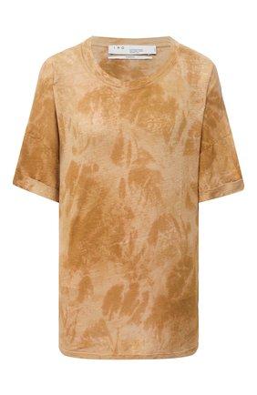 Женская льняная футболка IRO желтого цвета, арт. WP19D0NGI | Фото 1