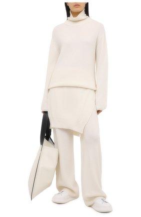 Женские брюки NANUSHKA кремвого цвета, арт. 0NI_CREME_SUSTAINABLE CASHMERE KNIT   Фото 2