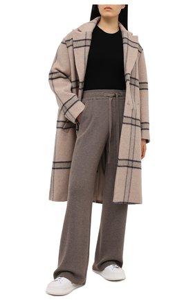 Женские брюки NANUSHKA серого цвета, арт. 0NI_F0SSILE_RECYCLED CASHMERE KNIT   Фото 2