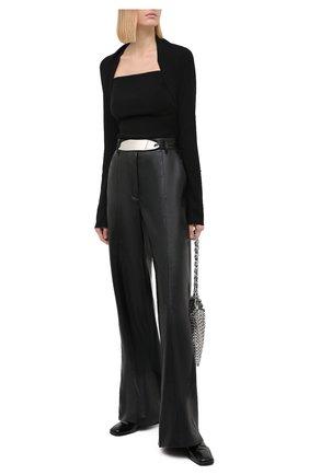 Женские брюки NANUSHKA черного цвета, арт. CLE0_BLACK_VEGAN LEATHER | Фото 2