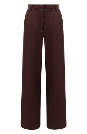 Женские брюки NANUSHKA коричневого цвета, арт. CLE0_PLUM CHUTNEY_VEGAN LEATHER | Фото 1