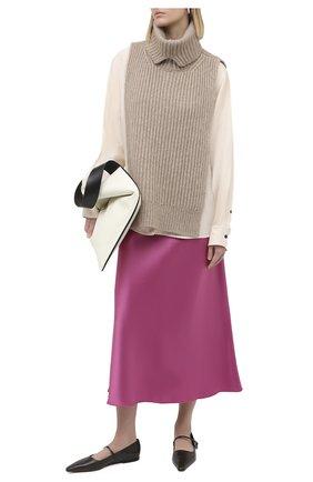 Женская юбка NANUSHKA розового цвета, арт. RAZI_PINK_SLIP SATIN | Фото 2