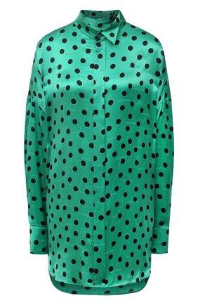 Женская шелковая блузка BALENCIAGA зеленого цвета, арт. 642258/TJLB1 | Фото 1