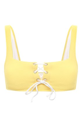 Женский бра-топ HEIDI KLEIN желтого цвета, арт. 20HSCN0264 | Фото 1