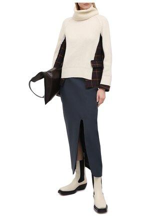 Женский шерстяной свитер SACAI белого цвета, арт. 20-05204 | Фото 2