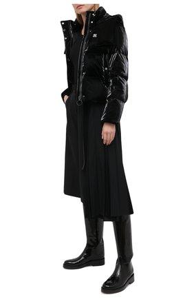 Женский пуховая куртка OFF-WHITE черного цвета, арт. 0WEA213F20FAB0011000 | Фото 2