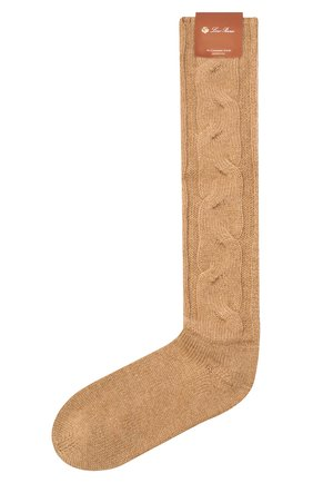 Женские кашемировые носки LORO PIANA бежевого цвета, арт. FAI3620 | Фото 1