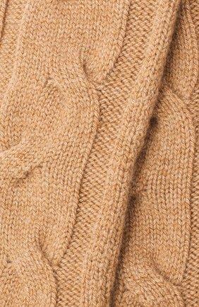 Женские кашемировые носки LORO PIANA бежевого цвета, арт. FAI3620 | Фото 2