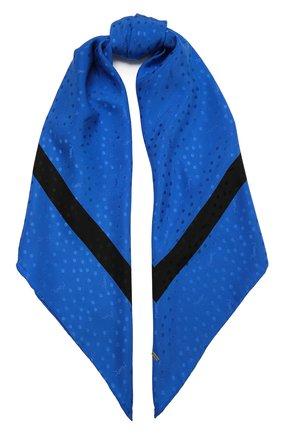 Женский шелковый платок SAINT LAURENT голубого цвета, арт. 641357/3Y011 | Фото 1