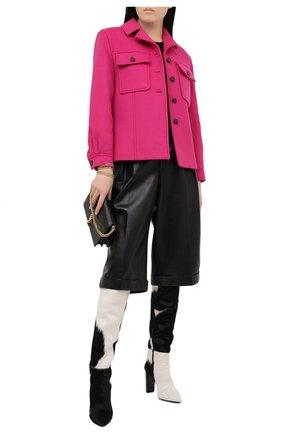 Женский шерстяной жакет SAINT LAURENT розового цвета, арт. 636256/Y8B01 | Фото 2