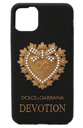 Чехол для iphone 11 pro max DOLCE & GABBANA черного цвета, арт. BI2688/AW532 | Фото 1