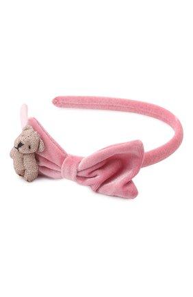 Детского ободок JUNEFEE розового цвета, арт. 6697   Фото 2