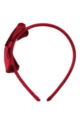 Детского ободок JUNEFEE бордового цвета, арт. 6630 | Фото 1