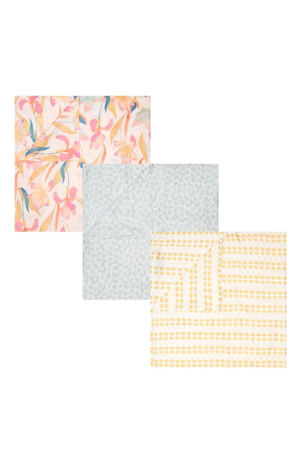 Детского комплект из трех пеленок ADEN+ANAIS разноцветного цвета, арт. ASWS30001 | Фото 1