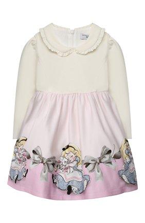 Женский платье из вискозы MONNALISA розового цвета, арт. 316918 | Фото 1