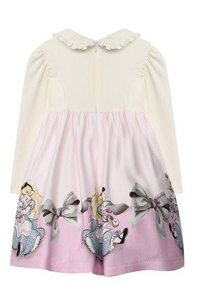 Женский платье из вискозы MONNALISA розового цвета, арт. 316918 | Фото 2