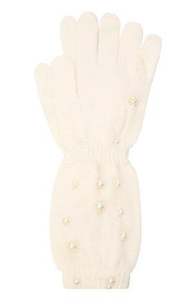 Детские шерстяные перчатки MONNALISA белого цвета, арт. 796016 | Фото 1