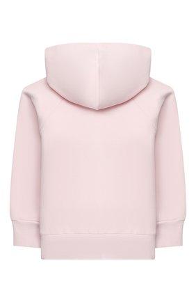 Детский хлопковая толстовка MONNALISA розового цвета, арт. 396804SX | Фото 2