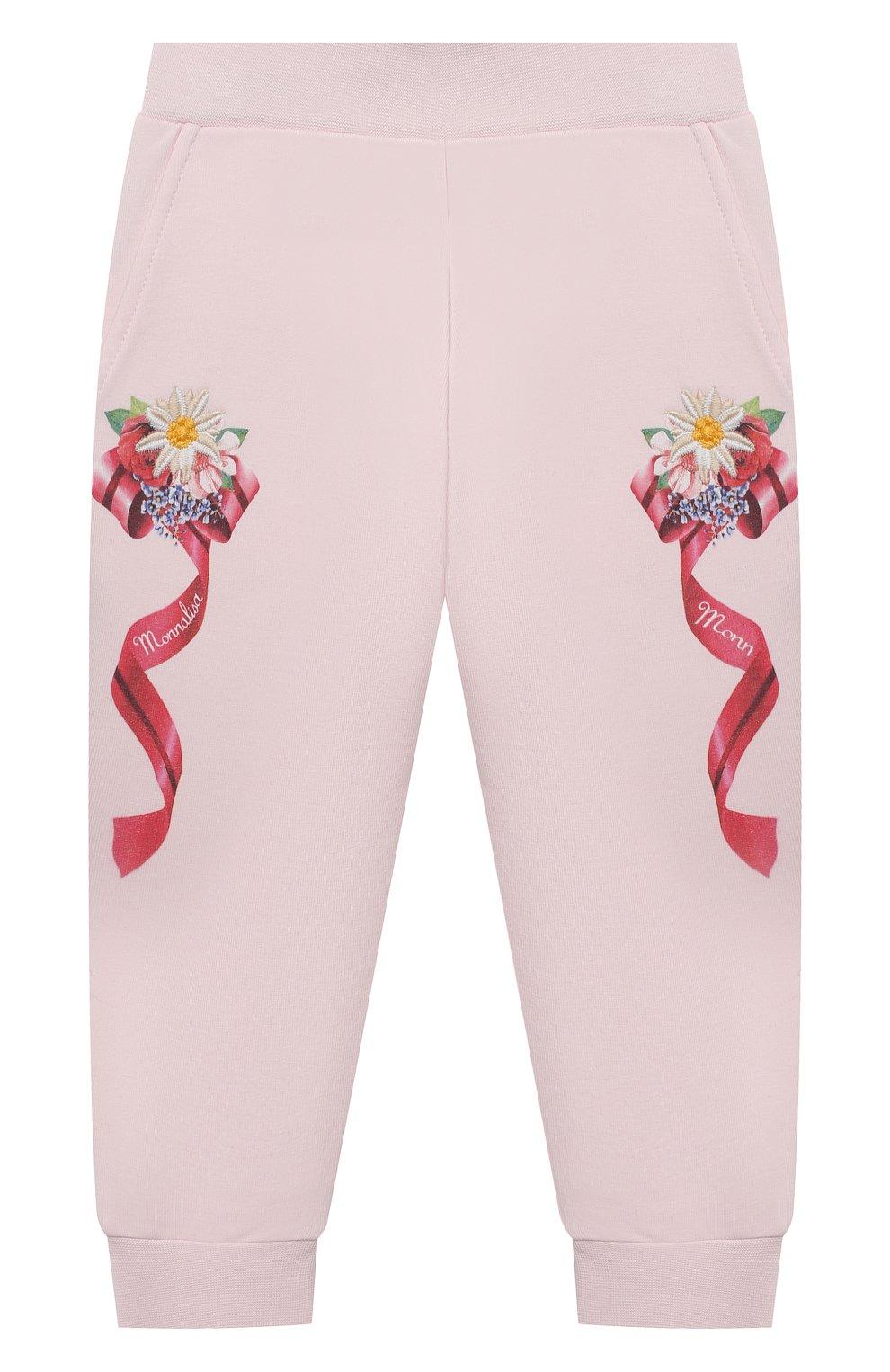 Детские брюки MONNALISA розового цвета, арт. 396407SX | Фото 1
