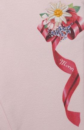 Детские брюки MONNALISA розового цвета, арт. 396407SX | Фото 3