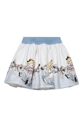 Детская юбка MONNALISA голубого цвета, арт. 316705 | Фото 1