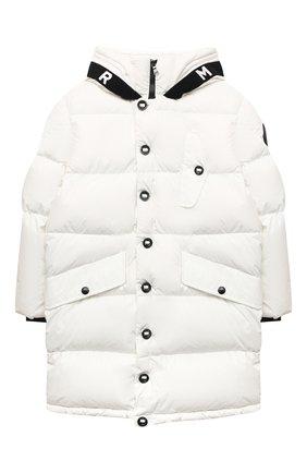 Детское пуховое пальто MONCLER белого цвета, арт. F2-954-1C512-20-54A91/8-10A | Фото 1
